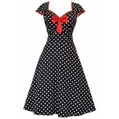 Lady V London Isabella Black Polka Šaty ve stylu 50. let. Nádherné šaty ve 3edba063b6