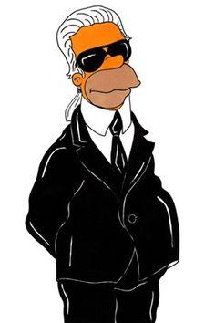 Karl Lagerfeld hecho Simpson