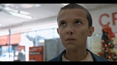 Cinemagraph with Eleven from Stranger Things, before she goes for her eggos