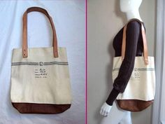 Fleabags Barneys NY Limited Edition Leather Canvas Fun Shoulder Tote Shopper Bag | eBay