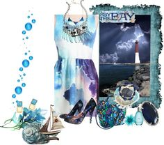 """""""Midnight Blue."""" by rhondahenninger1 ❤ liked on Polyvore"""