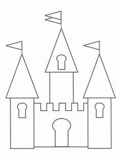 Princess Castle Page For Quiet Book -Castle Drawing Template Castle Coloring Page, Colouring Pages, Coloring Pages For Kids, Coloring Sheets, Coloring Books, Adult Coloring, Cinderella Castle, Princess Castle, Princess Party