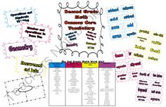 Second Grade Math Common Core Word Wall from Amber Polk on TeachersNotebook.com (21 pages)