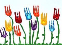 Flower art project-Use a fork for the flower part. Flower art project-Use a fork for the flower part. # artsy flower art project part Spring Art Projects, Spring Crafts, Projects For Kids, Garden Projects, Clay Projects, Project Ideas, Art Activities For Kids, Spring Activities, Art For Kids