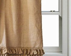 burlap curtains – Etsy