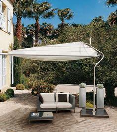 Zonnezeil Defender, vrijstaand systeem, oprolbaar en voorzien van wind sensor