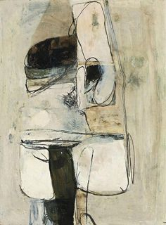 Untitled White Painting, by Brett Whiteley, Oil, tempera, pencil and mixed media on paper on board. Australian Artists, Art Painting, Australian Art, Abstract Drawings, Painting, Australian Painting, Art, Abstract, White Painting