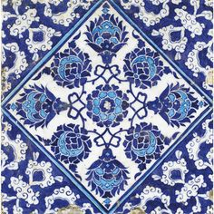 Current painting inspired from this pattern Turkish Tiles, Turkish Art, Portuguese Tiles, Islamic Patterns, Tile Patterns, Cultural Patterns, Islamic Tiles, Islamic Art, Clay Tiles
