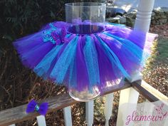 Purple and Turquoise Sparkly Butterfly Tutu and by abitofglamour, $30.00