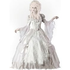 Elite Collection Lady Ghost Costume - http://ghostcostumes.org/elite-collection-lady-ghost-costume.html