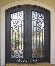 Double iron doors for your home.