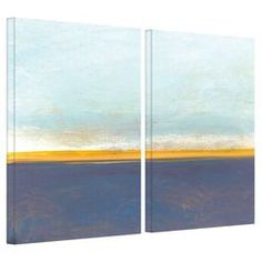 Big Country Sky I 2 Panel Canvas Art by Jan Weiss