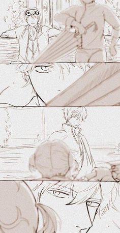Gintama [★][★][★] Okita Sougo, Kagura, and Sakata Gintoki All Anime, Anime Love, Anime Guys, Manga Anime, Anime Art, Okikagu Doujinshi, Gintama Wallpaper, Silver Samurai, Anime Siblings