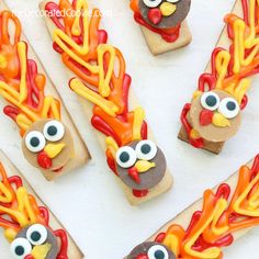 turkey cookie sticks http://thedecoratedcookie.com/2013/11/seriously-you-cant-mess-these-up-turkey-cookie-sticks/
