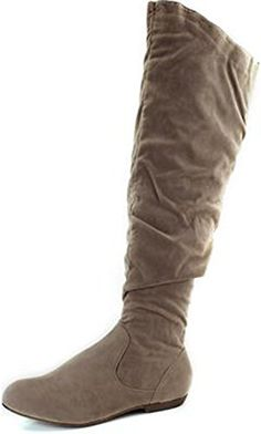 7015b48158c1de DBDK Quintus1 Womens Over The Knee Flat Bottom Boots ColorNude Size6    For  more information
