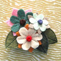 Etsy Transaction - Flower Bunch wool felt pin