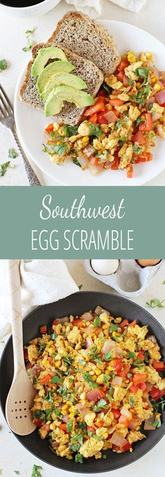 This 20-minute, healthy southwest egg scramble is a simple breakfast ...
