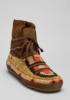 House of Harlow beaded moccasin boots.