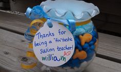 thanks for being a FINtastic swim coach/teacher... always love the gifts w/ puns.