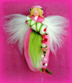 Pink cornucopia magic wool fairy