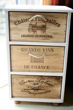 Instant Access To Woodworking Designs, DIY Patterns & Crafts Wooden Wine Boxes, Wooden Crates, Vintage Crates, Wine Furniture, Repurposed Furniture, Wine Wall, Woodworking Projects Diy, Decoration, Tv Storage