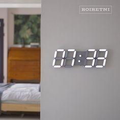 Roiretniroiretni gray smart led digital wall clock / wall clock / wall clock – Clock World Best Interior, Room Interior, Home Decor Bedroom, Living Room Decor, Screen Door Pantry, Wall Design, House Design, Led Wall Clock, Modern Clock