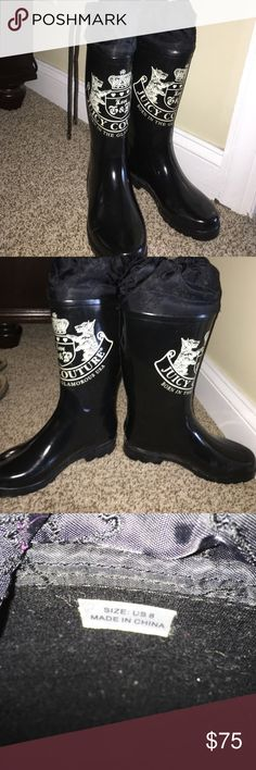 Selling this Juicy couture rain boots on Poshmark! My username is: amdeptula89. #shopmycloset #poshmark #fashion #shopping #style #forsale #Juicy Couture #Shoes