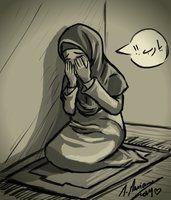 Hijab Drawing : Pray - New Pin Couple Cartoon, Girl Cartoon, Hijab Drawing, Sad Drawings, Drawing Pics, Crying Girl, Islamic Cartoon, Anime Muslim, Hijab Cartoon