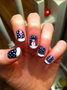 Snowman nails.