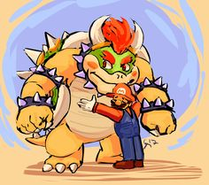 I DON'T RESPOND ANON so please used your user — paperbooart: bowser n mario for anonymous Mario Bros., Mario And Luigi, Mario Kart, Super Mario Brothers, Metroid, Mario Video Game, Peach Mario, King Koopa, Super Mario Art