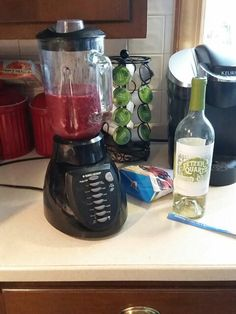 Wine smoothie. Bag of frozen fruit and white wine