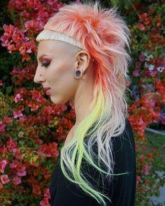 Top 30 Fiery Pastel Orange Hair Color Ideas in 2018 Punky Hair, Edgy Hair, Pastel Orange Hair, Mullet Hairstyle, Top Hairstyles, Alternative Hair, Coloured Hair, Hair Brained, Stylish Hair