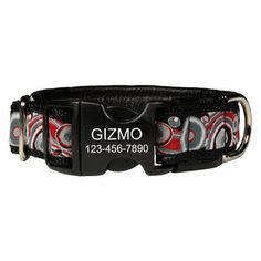 Love the #retro print of this personalized dog collar! Looks super comfy too!