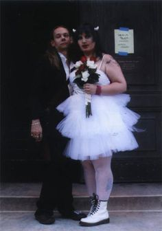 Man in wedding dress devil horns Funny Wedding Pictures Bad Wedding Photos Ugly Wedding Dresses Fail Horrible Awkward Family worst strange B...