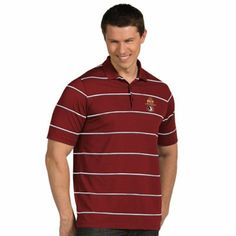 Antigua Florida State Seminoles (FSU) 2014 BCS National Championship Game Bound Brilliant Performance Polo - Garnet