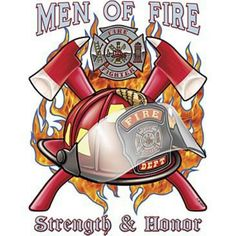 Men of fire, strength, and HONOR! My brother, Greg - my hero! Firefighter Symbol, Firefighter Crafts, Volunteer Firefighter, Firefighter Tattoos, Firefighter Quotes, Fire Dept, Fire Department, Fireman Tattoo, Fire Engine Toy