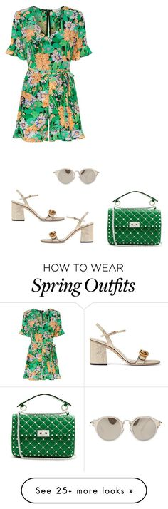 """Outfit Only - Spring Floral"" by fashionmonkey1 on Polyvore featuring Sandro, Valentino, Gucci and Miu Miu Summer Wear, Spring Summer Fashion, Spring Outfits, Sandro, Miu Miu, Street Styles, Valentino, Fashion Show, Gucci"