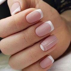 best natural short square nails design for summer nails 13 Blush Pink Nails, Bright Pink Nails, Matte Pink Nails, Chic Nails, Classy Nails, Stylish Nails, Classy Nail Designs, Pink Nail Designs, Nails Design