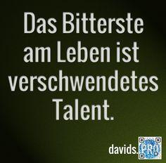 Kümmere dich um deine Talente.