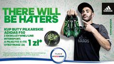INTERSPORT: kup buty piłkarskie ADIDAS F50 z ekskluzywnej linii Intersport, a piłkę F50 X-ITE otrzymasz za 1 zł