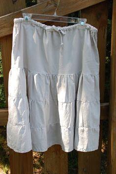 amazing mae: ruffled linen skirt