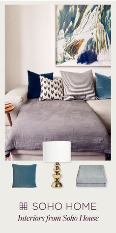 Add texture and warmth to your home with our latest collections. Shop now. Open Plan Kitchen Living Room, Home Living Room, Apartment Living, Living Room Designs, Living Room Bookcase, Cushions On Sofa, Soft Furnishings, Diy Home Decor, Bedroom Decor