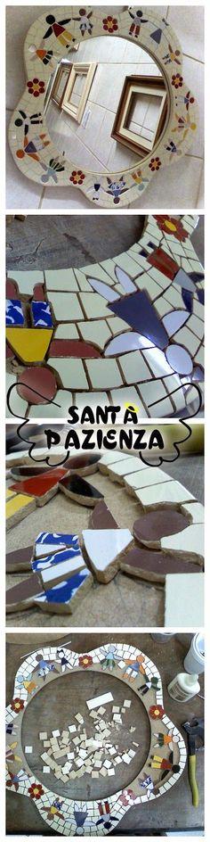 Acessórios descolados feitos à mão e objetos para decoração como mosaicos, pinturas decorativa e criativas. Artesanato para usar e decorar.