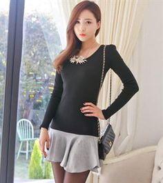 Autumn Fashion Long Sleeve Slim Dress