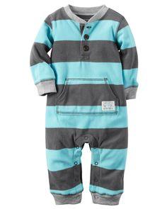 5636ac780 Baby Boy Fleece Jumpsuit | Carters.com Boys Pajamas, Newborn Outfits,  Outfits Niños