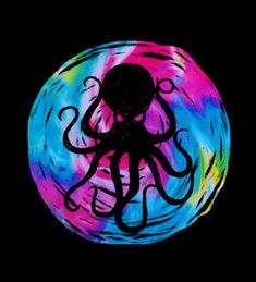 Here's a groovy new t-shirt for my friends at Go buy it now! Vector Design, Vector Art, My Design, Graphic Design, Blink 182, Illustration Art, Octopuses, Dyes, Drawings