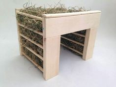 Fun interactive hay rick & hidey house for the guinea pigs!