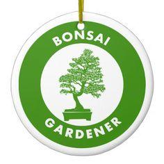 Bonsai Gardener Ceramic Ornament -nature diy customize sprecial design