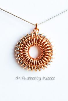 My first Tutorial is ready to go!!!!! Sunburst Chainmaille Pendant Tutorial by FlutterbyKissis on Etsy
