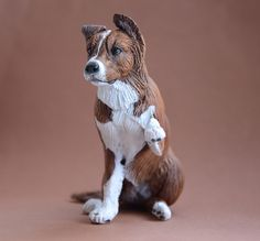Jasmine, Australian Shepherd cross.  Made by Harriet Knibbs Sculptures Ltd